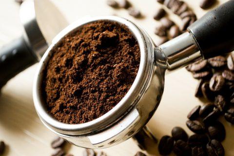 Ein Komposthaufen für den Kaffeesatz